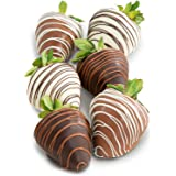 Golden State Fruit Chocolate Covered Strawberries, 6 Dark, Milk & White Delight