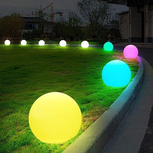 Lámpara solar LED luces jardín exterior con mando a distancia USB recargable impermeable en forma redonda adecuada para jardín piscina exterior Ville jardín patio: Amazon.es: Iluminación