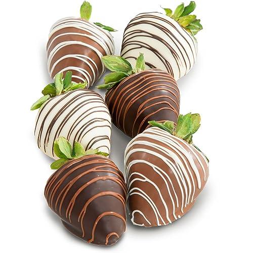 Golden State Fruit Chocolate Covered Strawberries 6 Dark Milk White Delight