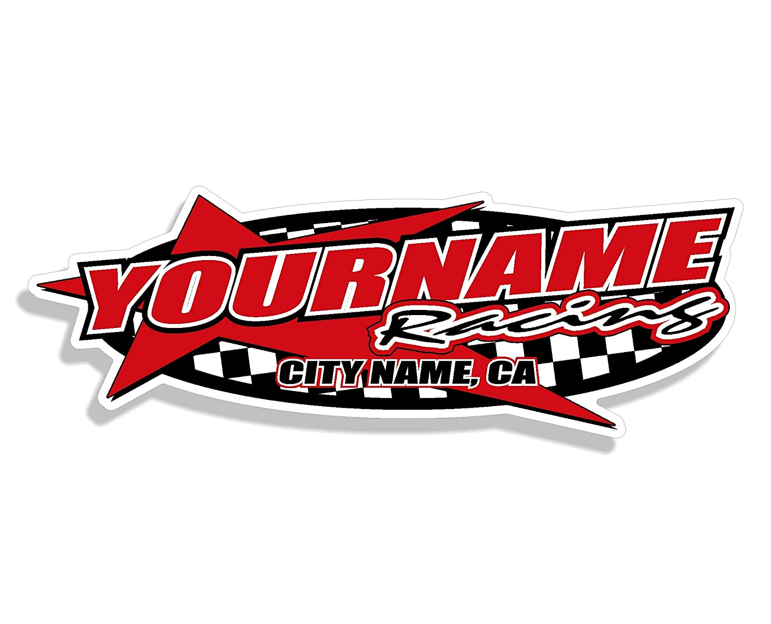 Multiple Color /& Size Options Your Name Trailer Stickers Custom Your Team Name Racing Trailer Decals