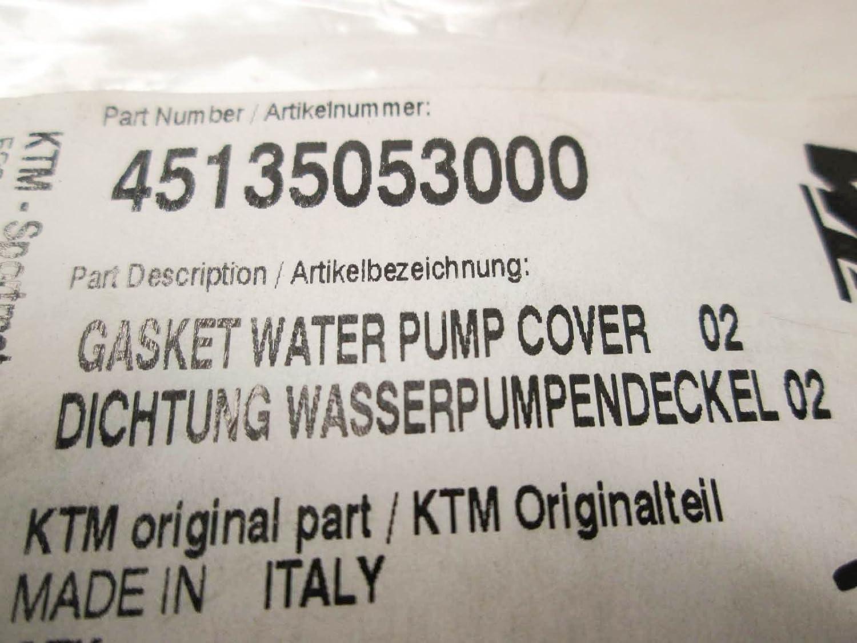 NEW KTM GASKET WATER PUMP COVER 2002-2008 50 65 SX XC PRO JUNIOR SEN 45135053000