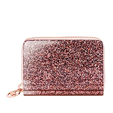 461b968fae76a4 Amazon.com: Michael Kors Barbara Zip Around Metallic Coin Case- Rose ...