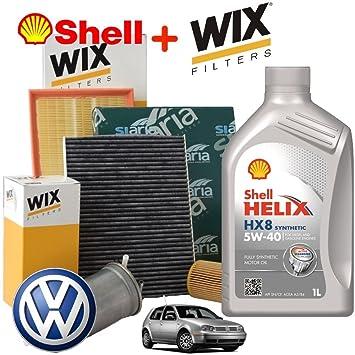 """Kit de revisión y cambio de aceite formado por 5 litros de aceite """"Helix HX8"""