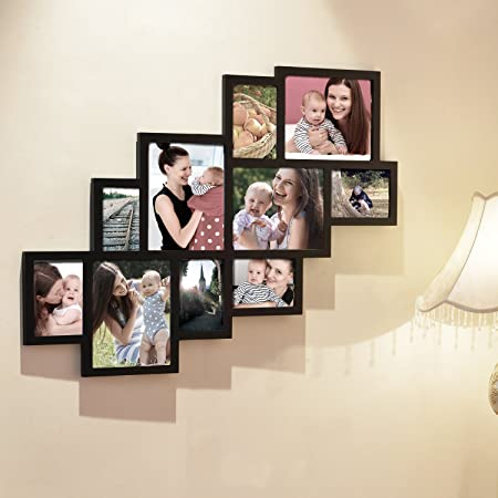 Adeco [PF0018] 10 Openings Cluster Picture Collage Frame - Holds ...