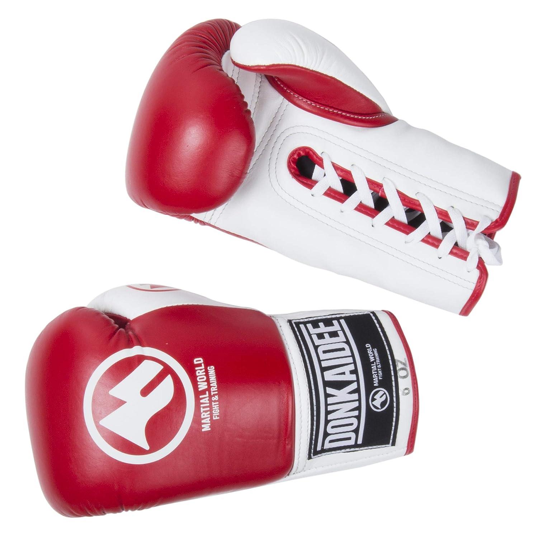 マーシャルワールド(MARTIAL WORLD) DONKAIDEE(ドークカイディー) 紐タイプ ボクシング BGDK1 B009SZPKF8 赤 8oz