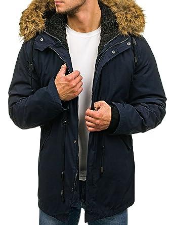 BOLF Hombre Chaqueta de Invierno Parka Chaqueta de Entretiempo con Capucha 4D4: Amazon.es: Ropa y accesorios