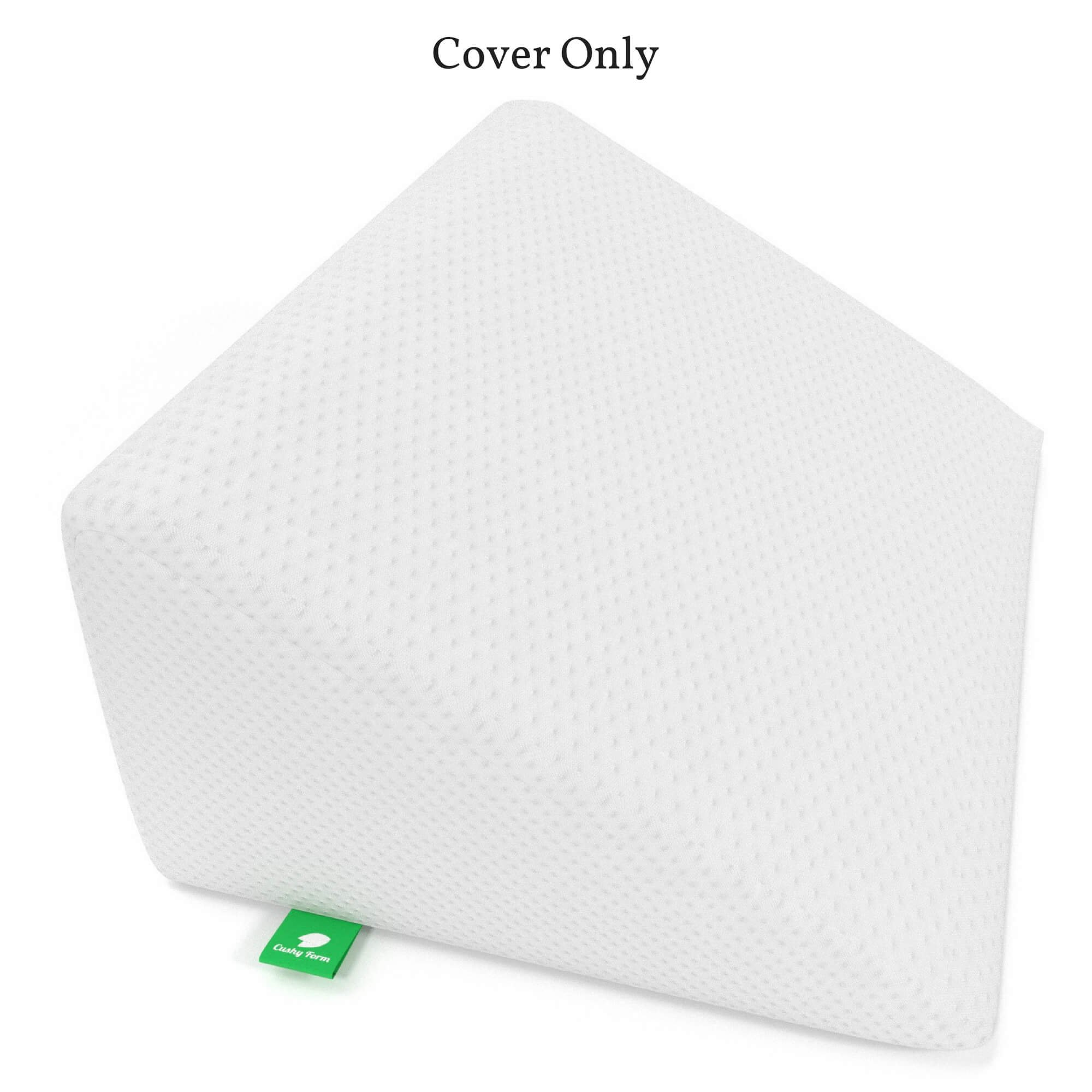 [Replacement Cover] Bed Wedge Pillow Replacement Cover - Fits Cushy Form 12 Inch Wedge Pillow - Hypoallergenic, Machine Washable Case (Replacement Cover ONLY 12'' Wedge) by Cushy Form