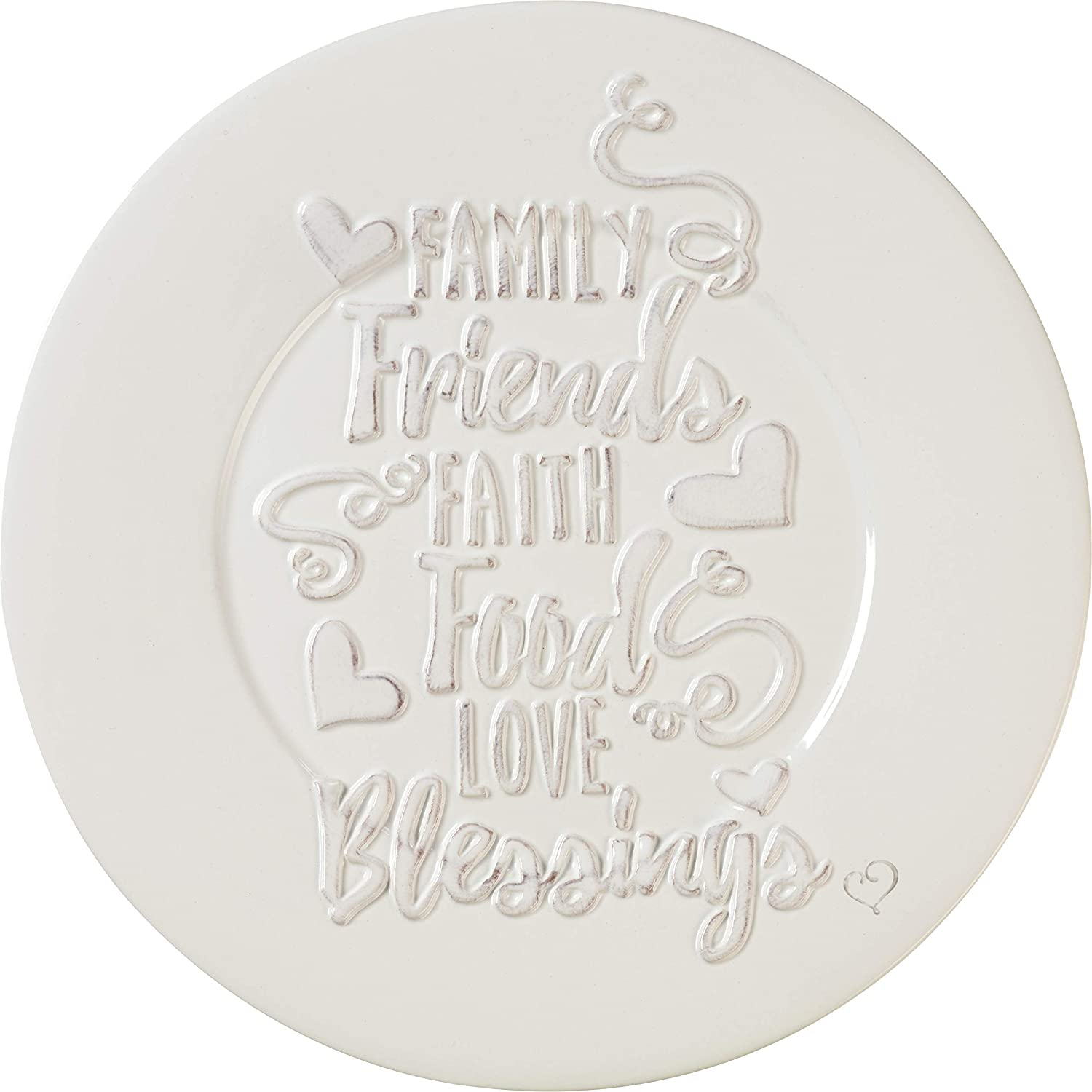 Precious Moments Bountiful Blessings Family Friends Faith Food Love Blessings Ceramic Round Serving Plate 10 Inch