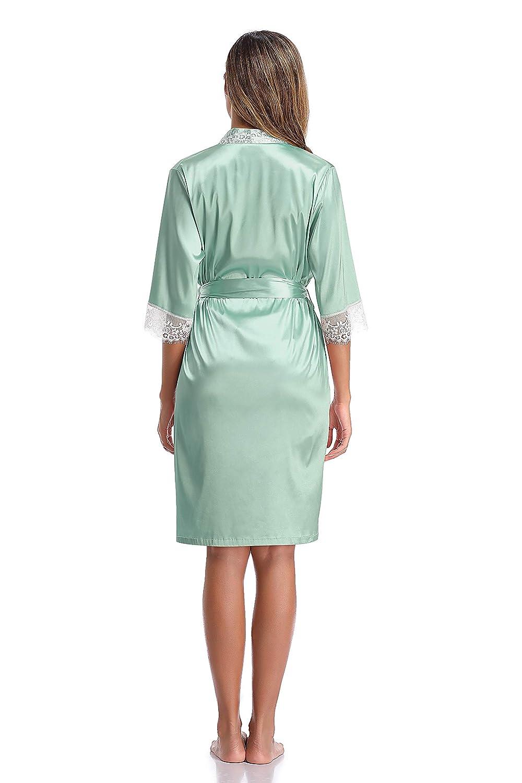 Satin Kimono Robe//Cami Set Ladies PJs Set Womens Nightgown Bridesmaid Robe SHEKINI Pajama for Women