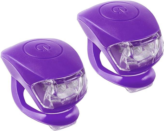 M-Wave Cobra IV - Luces LED Blancas y Rojas (par), Color Morado: Amazon.com.mx: Deportes y Aire Libre