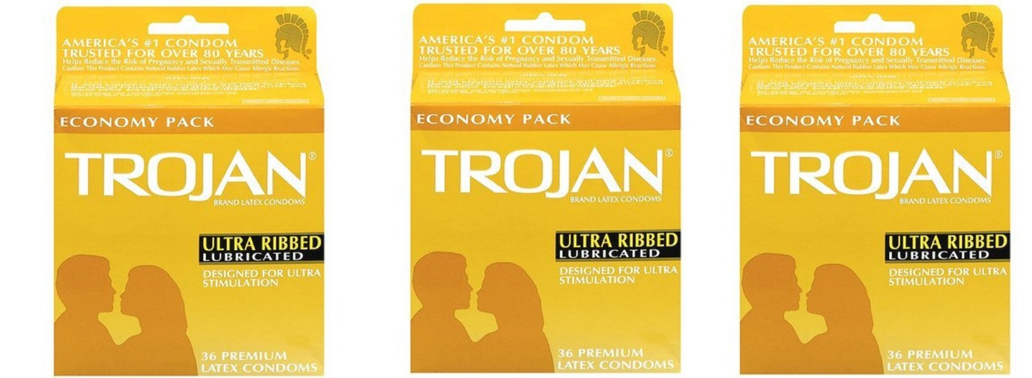 Trojan Ultra Ribbed, Economy Pack kjkPpA, 36Pack (36 ea) by Trojan
