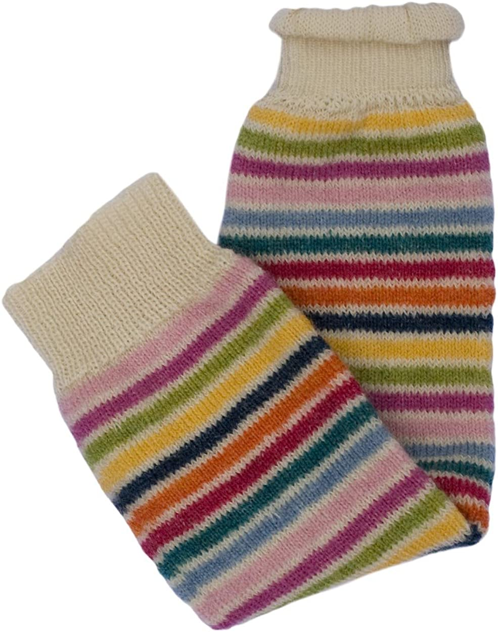 Hirsch Natur Leg Warmers 100/% Wool