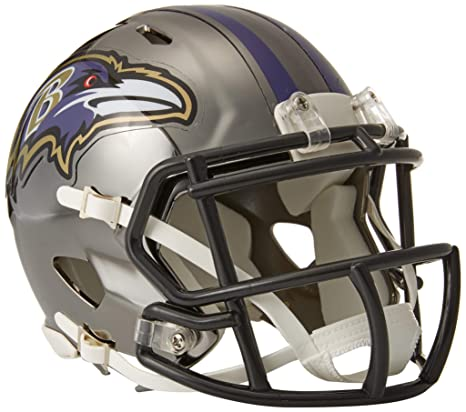 1bc4d7ff5 Image Unavailable. Image not available for. Color: Riddell Chrome Alternate  NFL Speed Authentic Mini Helmet Baltimore Ravens