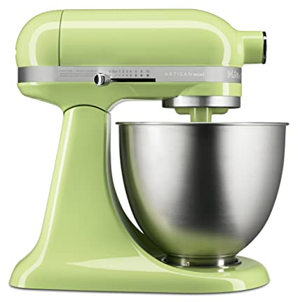 Amazon.com: KitchenAid KSM3311XHW Artisan Mini Series Tilt Head Stand  Mixer, 3.5 Quart, Honeydew: Kitchen U0026 Dining
