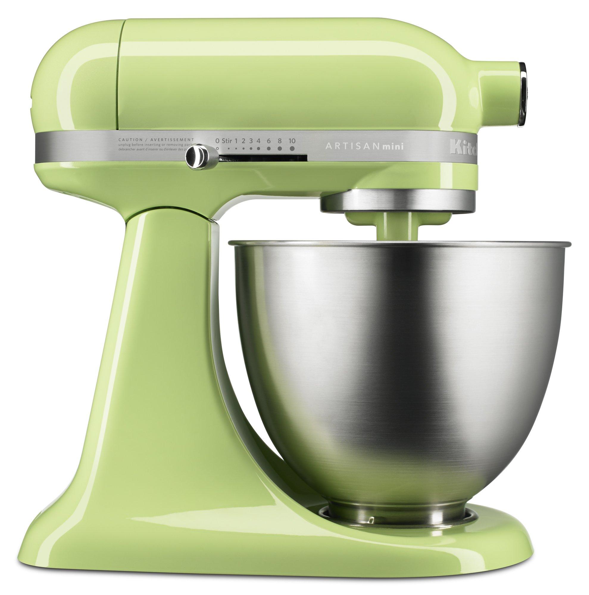 KitchenAid KSM3311XHW Artisan Mini Series Tilt-Head Stand Mixer, 3.5 quart, Honeydew