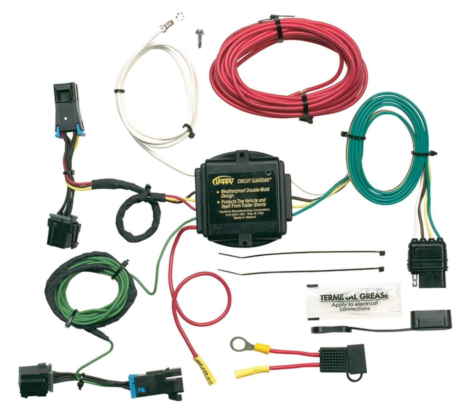 Hopkins 41345 Plug In Simple Vehicle Wiring Kit Automotive Trailer Harness Converter Box