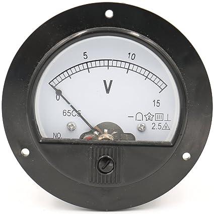 baomain 65c5 analogue panel meter volt voltage gauge analogbaomain 65c5 analogue panel meter volt voltage gauge analog voltmeter dc 0 15 v amazon com