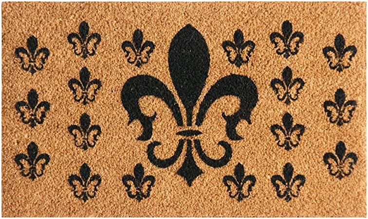 Rubber-Cal 24-Inch-by-57-Inch Classic Fleur de Lis French Matting Double Door