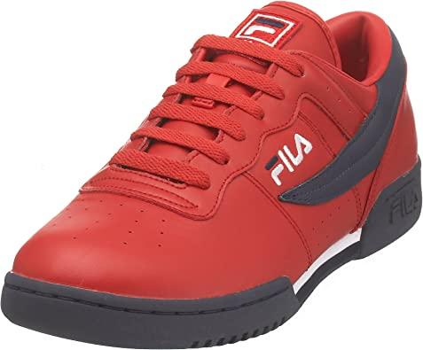 Logo Rouge Fitness Athlétique Original Chaussure Fila Marine