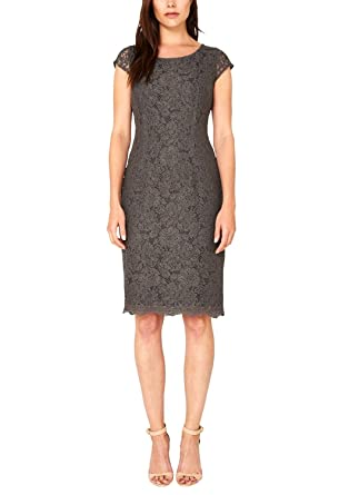 s.Oliver Premium Women's Short Sleeve Dress - Brown - 20: Amazon.co.uk:  Clothing