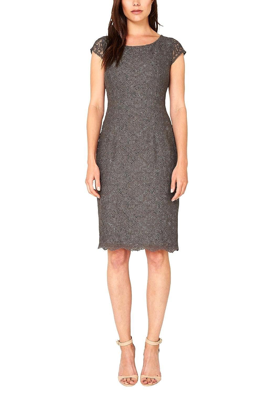 s.Oliver Premium Women's Mit Alloverspitze Short Sleeve Dress