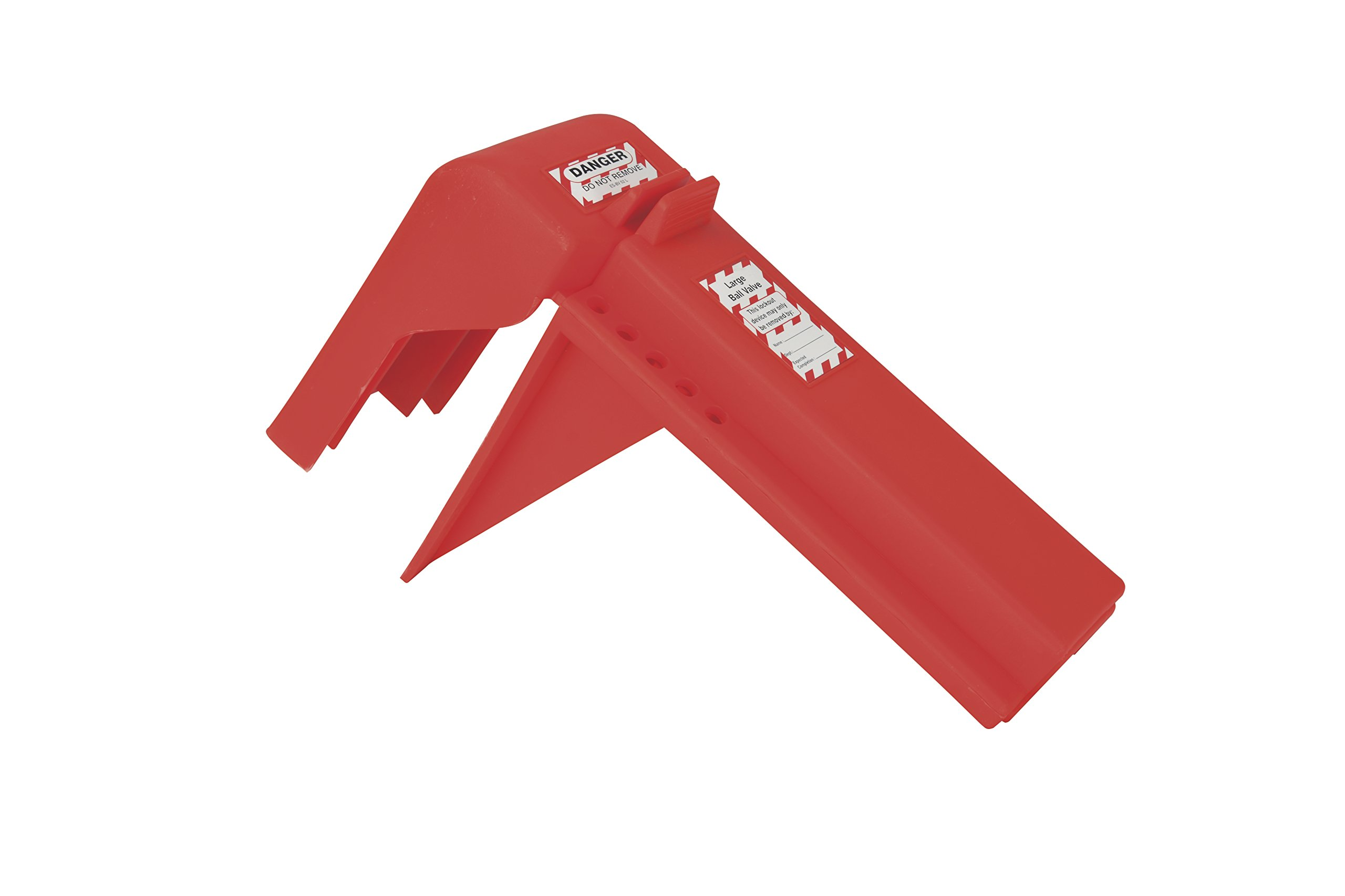Oberon LOTO-BVLO-S-6 Ball Valve Lockout, Small, Red (Pack of 6)