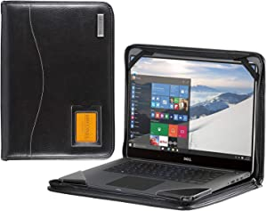 Broonel - Contour Series - Black Heavy Duty Leather Protective Case Compatible with The Dell Inspiron 15 3000 15.6 Inch