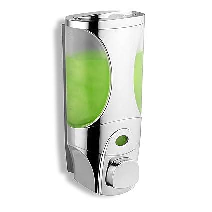 Dispensador de jabón y champú de lujo HotelSpa® Curves, diseño modular para ducha,