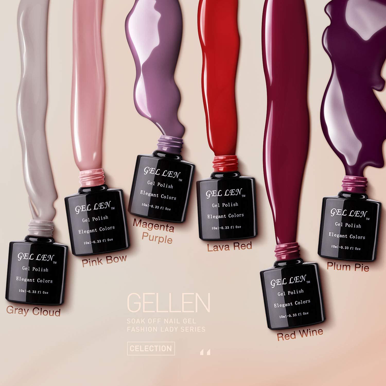 Amazon.com: 6colores, gel UV, esmalte de uñas ...