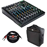 Mackie ProFX10v3 10-Channel Sound Reinforcement Mixer with Built-In FX, Gator Cases G-MIXERBAG-1515 Mixer Bag & Stereo Cable