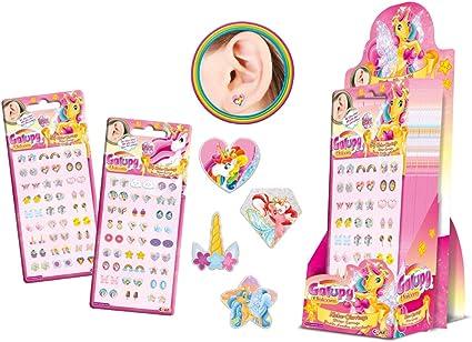 gutes Geschäft günstigster Preis beste Wahl CRAZE 22559 GALUPY Unicorn Einhorn Klebeohrringe Mädchen ...
