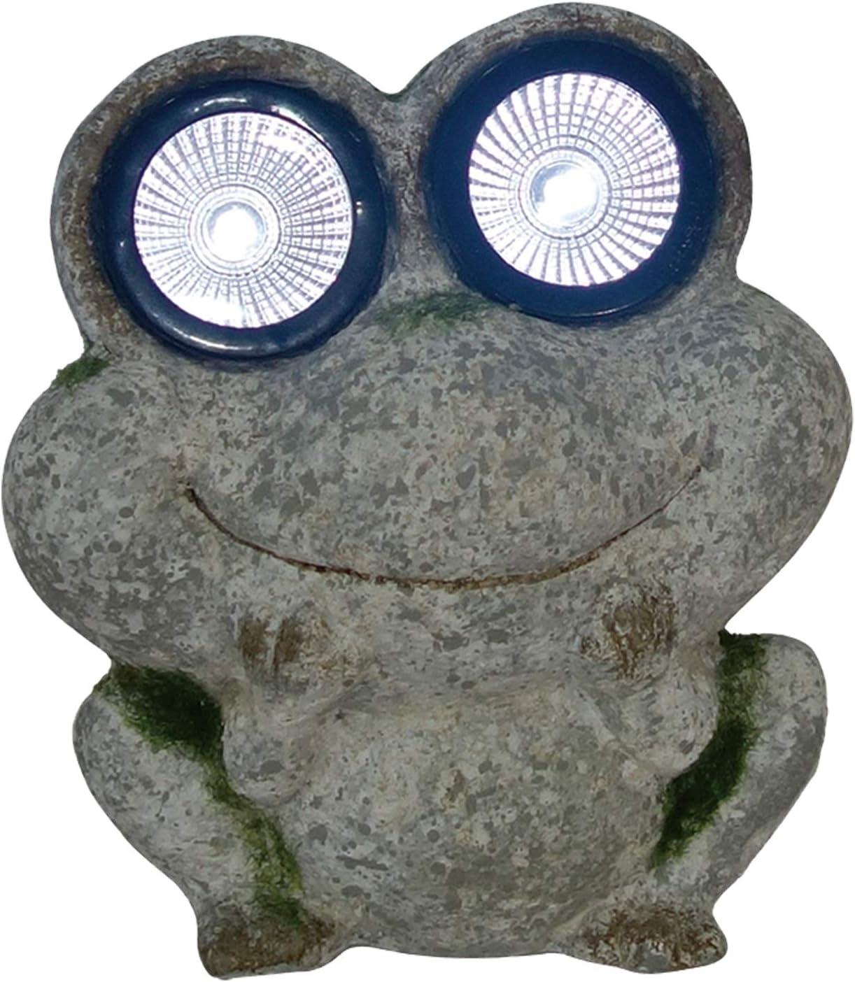 """ReLive 7"""" Solar Garden Helper Statue - Frog"""