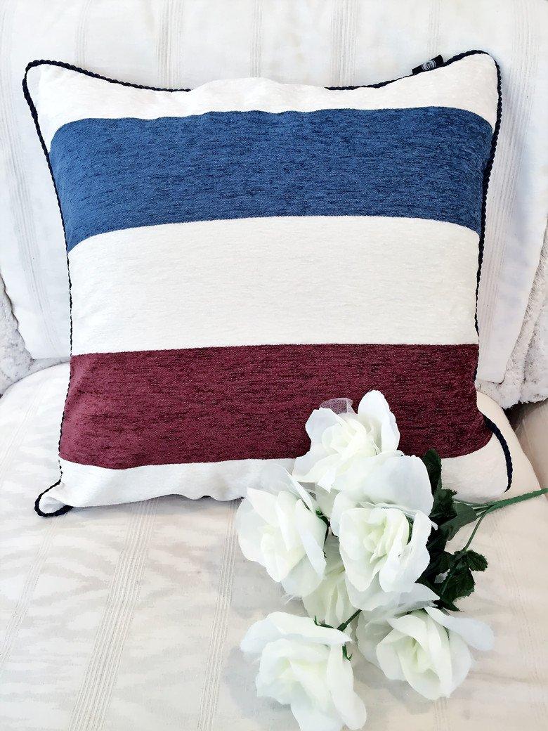 Hidden Zipper Hello Laura Home Decor Couch Throw Pillow Cushion Case Shell Cover Durable Linen Cotton Blend 18 L x 18 H Cyan Durable Linen Cotton Blend 18 L x 18 H HL/_CC0007-1