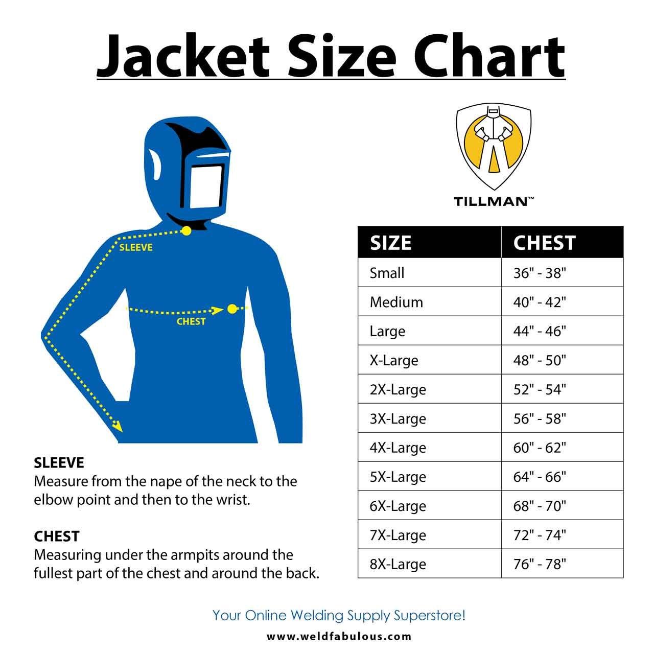 Welding Jacket XL by Tillman (Image #2)