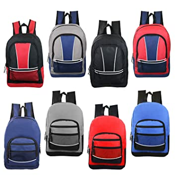 """f6a55c2069e Image Unavailable. Image not available for. Color: 17"""" Wholesale Sport  Backpacks in 8 Assorted Styles - Bulk Case of 24 Bookbags"""