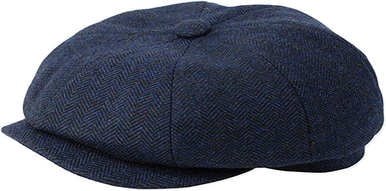 GFM 100% lana Gorra Baker Boy - 8 paneles en espiga Grau con tono ...