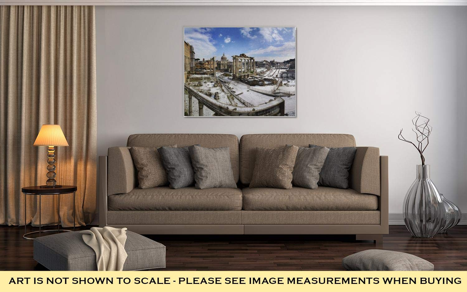 Amazon.com: Ashley Canvas Snow On Foro Romano, Kitchen ...