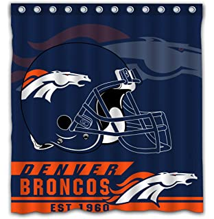 Felikey Custom Denver Broncos Waterproof Mildew Proof Shower Curtain With Color Bathroom Decoration Size Of 66x72