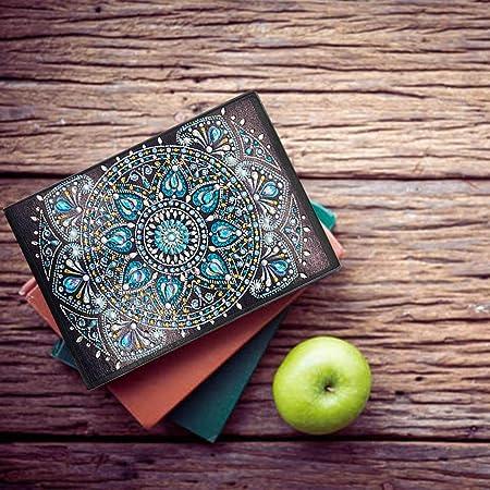 diario segreto per bambini Quaderni A5 pittura diamante 5d quaderno foderato 120 pagine 60 fogli diari segreti per scrivere appunti diario per adulti regalo creativo decorazione mandala