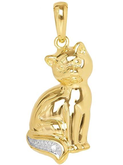 data di rilascio: 0e3c3 b5345 MyGold Ciondolo Gatto (senza catena) Oro Giallo 585 Oro (14 ...
