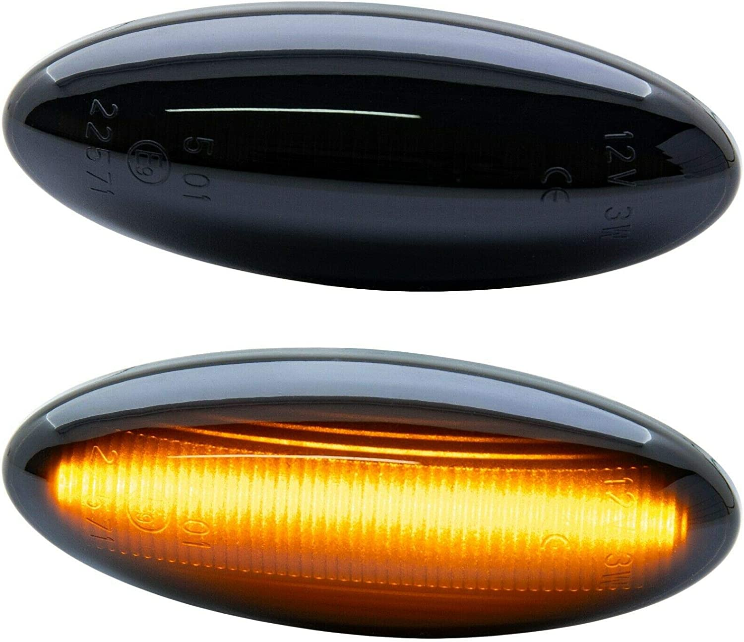 rm-style LED Side Indicator Black Compatible for Toyota Auris Type E15 Verso Type AUR2 ZGR2 N7736-1