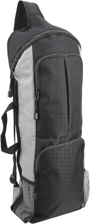 RiToEasysports Yogatasche Dunkler und Grauer multifunktionaler /übergro/ßer Yogamattenrucksack mit Mesh-Seitentaschen und Rei/ßverschlusstaschen vorne