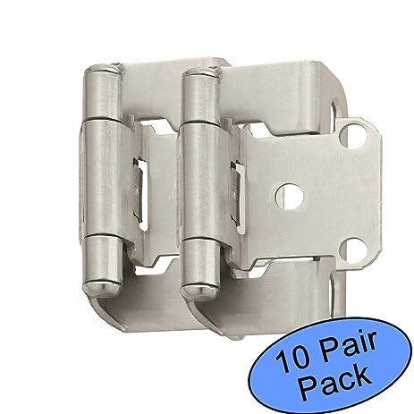 amerock bp7550 g10 satin nickel self closing partial wrap cabinet hinge 1 2 u0026quot amerock bp7550 g10 satin nickel self closing partial wrap cabinet      rh   amazon com