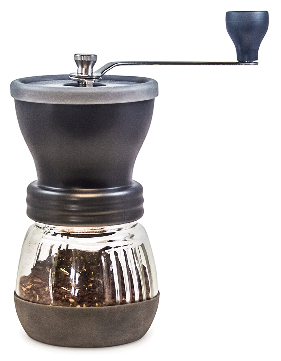 Coffee Grinder from Khaw-Fee - High Quality Adjustable Ceramic Burr - Portable - Consistent Grind for Whole Coffee Beans- Perfect for Pour Over Coffee, Drip Brew, Percolator, French Press, Espresso HG1B
