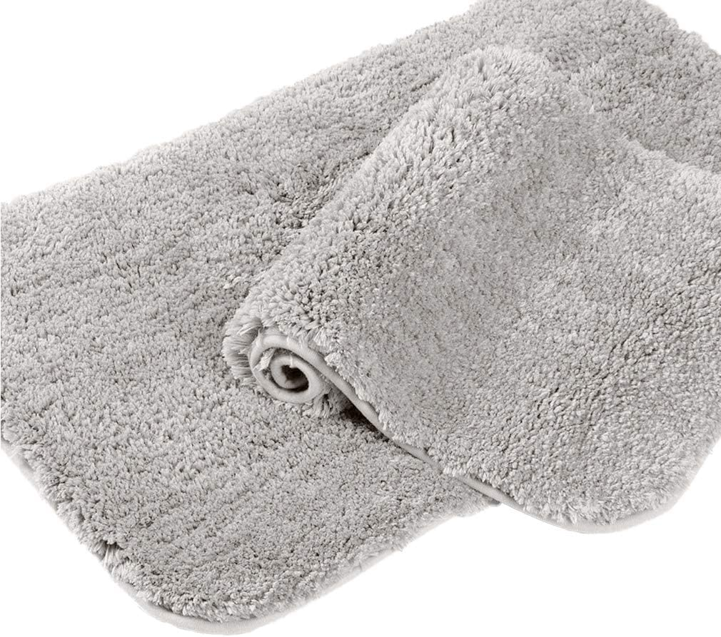 Non-Slip Bath Mat Living Room 20x 31.5 Beige Easy to Clean Chenille Shaggy Mats for Kitchen Thick Microfiber Ultra Soft Absorbent Shower Plush Rug Machine Washable for Bathroom Kitchen