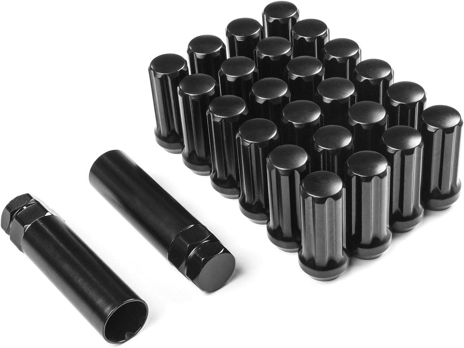 Krator 24x Black 14x1.5 Spline Lug Nuts for 2010-2017 Chevy Equinox