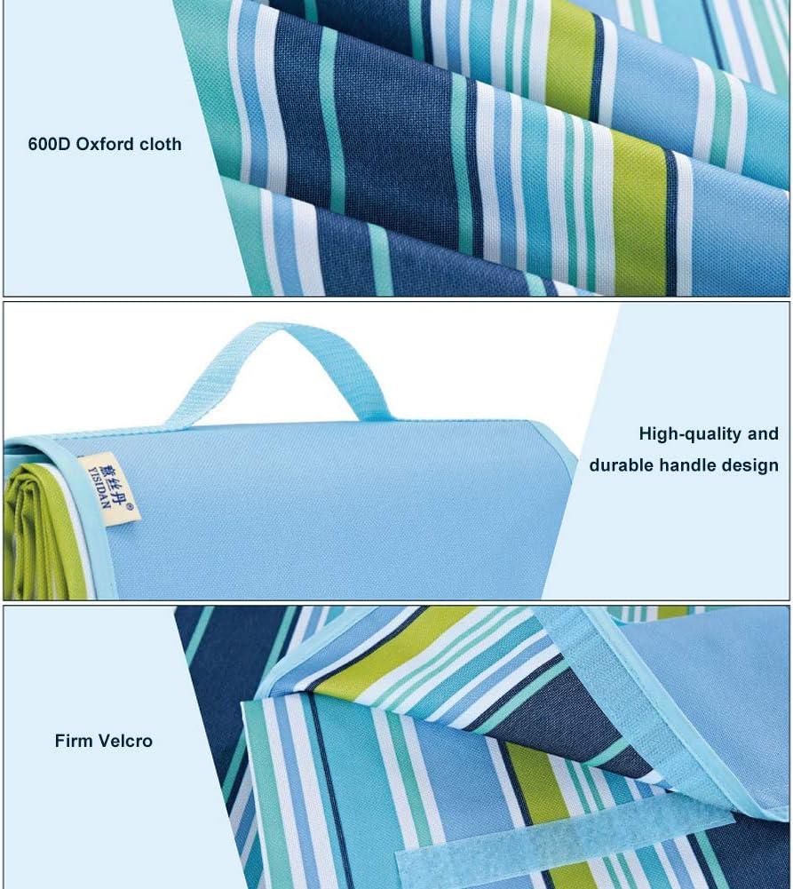 Bandes arc-en-ciel. Folconauto Couverture de pique-nique imperm/éable et portable pliable pour randonn/ée//camping//voyage Taille L