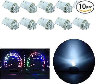 12V 10mm White LED Indicator Lamp Light Dash Panel for Car Truck Motorcycle