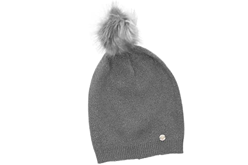 Sombrero mujer GIANMARCO VENTURI gris gorra con pompon efecto lurex