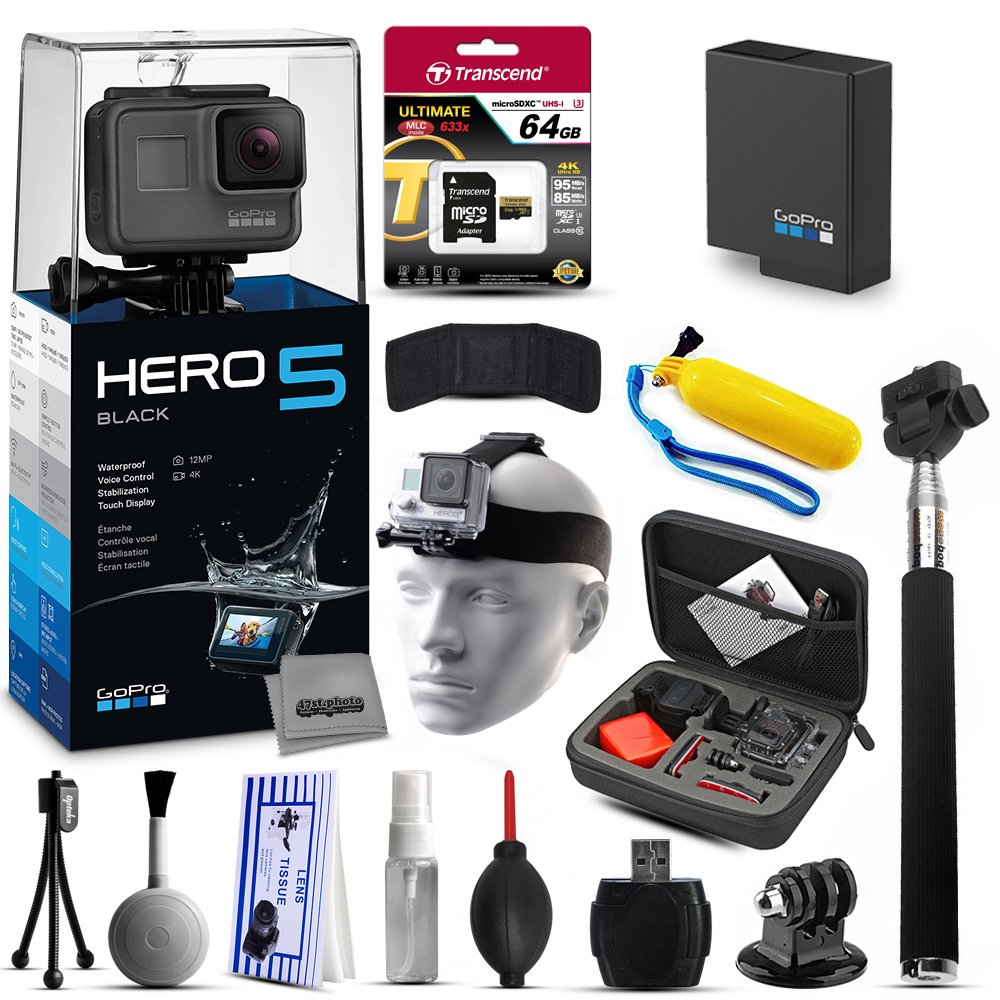 GoPro Hero5 negro chdhx-501 con 64 GB de memoria Ultra + ...